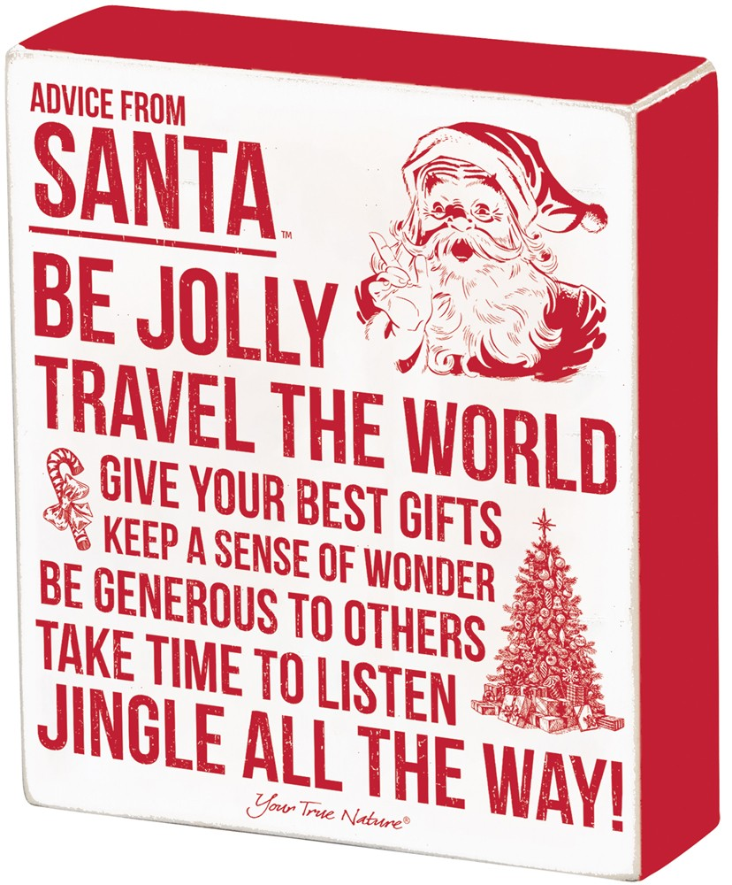 Advice From Santa Box Sign $32