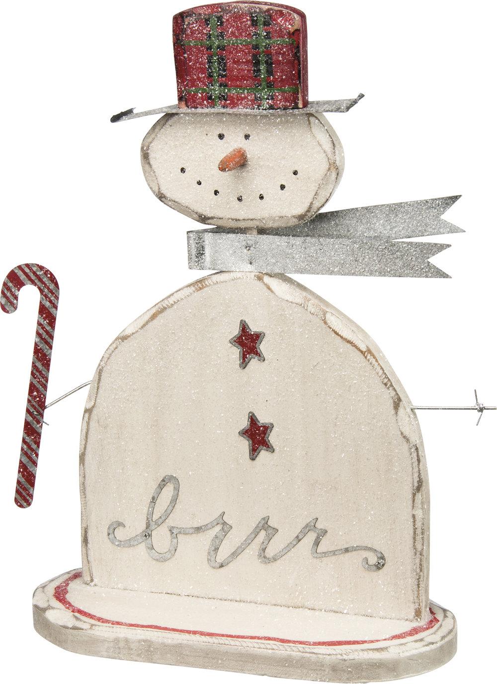 Wooden Snowman $42