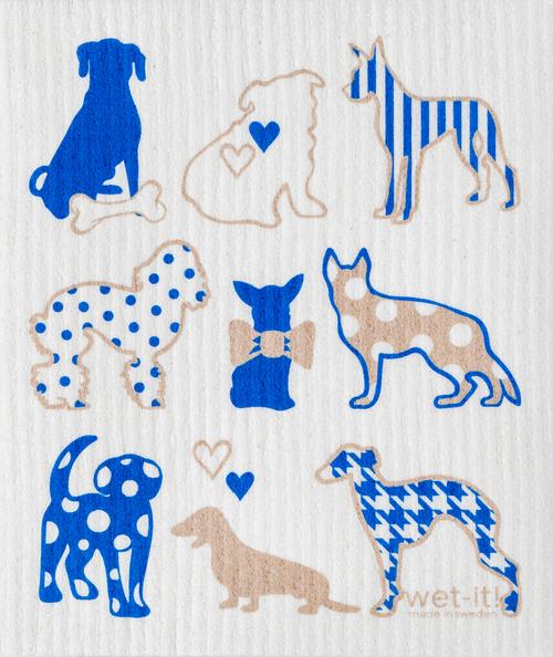 Dog Lover Blue Swedish Cloth $6