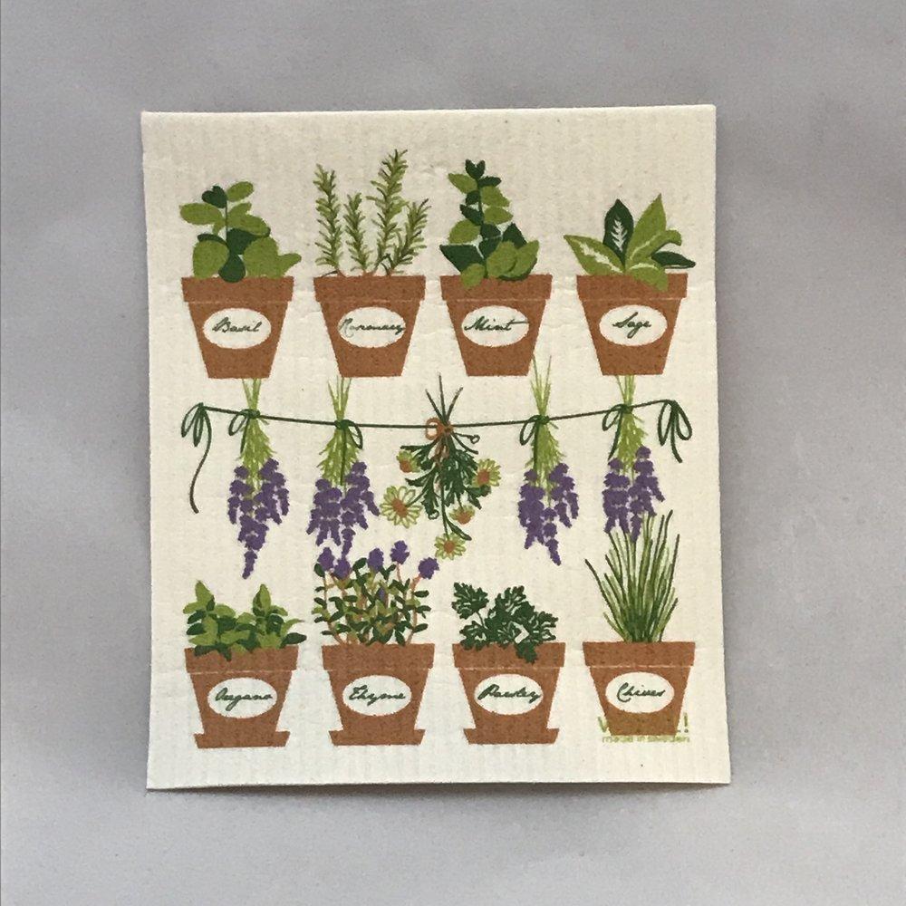 Fresh Herbs Swedish Cloth $6