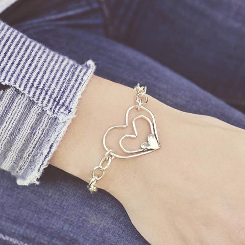 Full Heart Bracelet $76