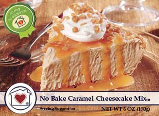 No Bake Caramel Cheesecake Mix $8