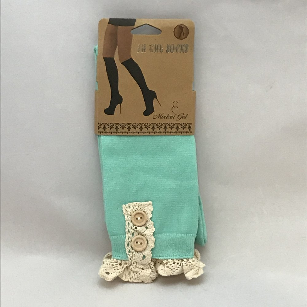 Light Blue Boot Socks $20
