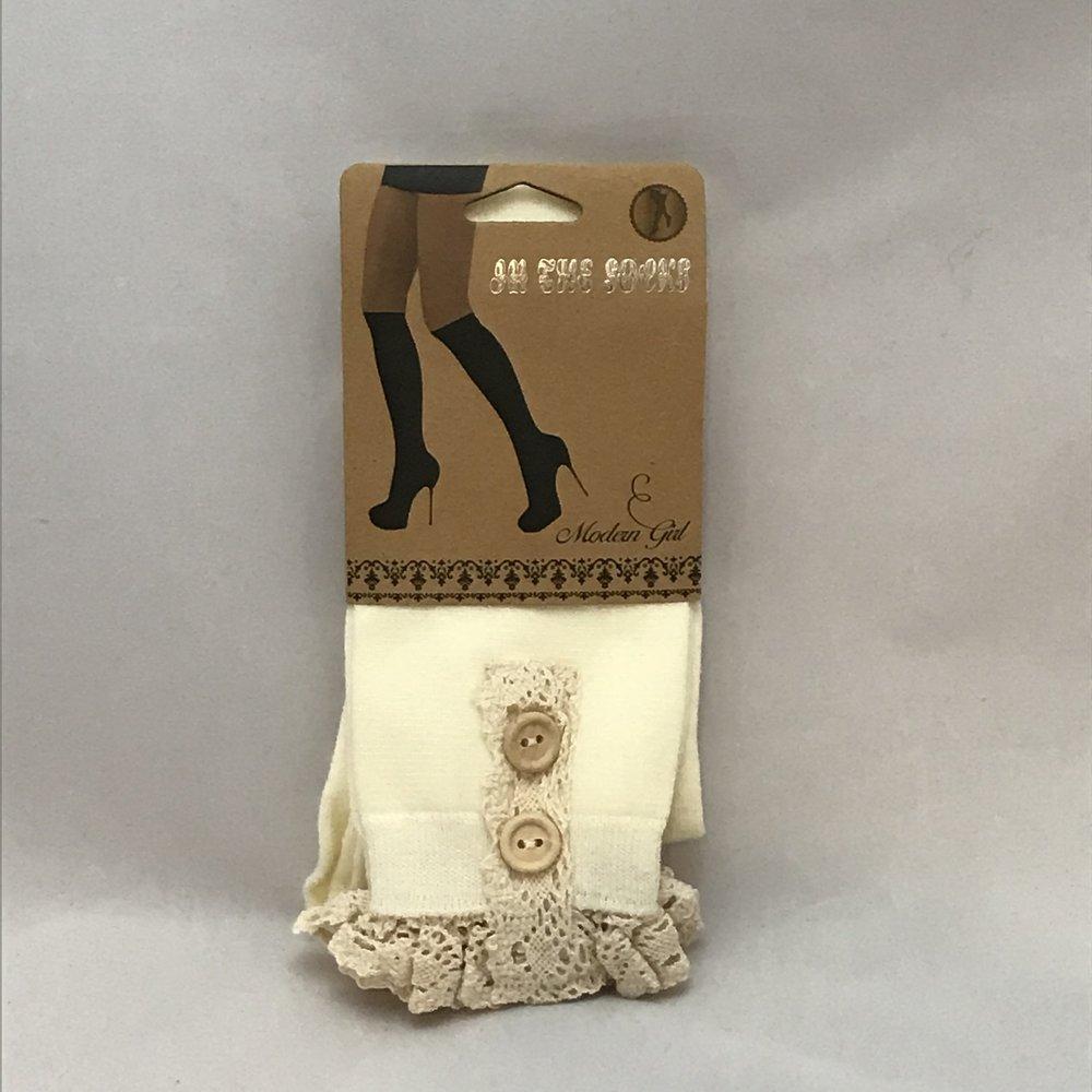 Beige Boot Socks $20