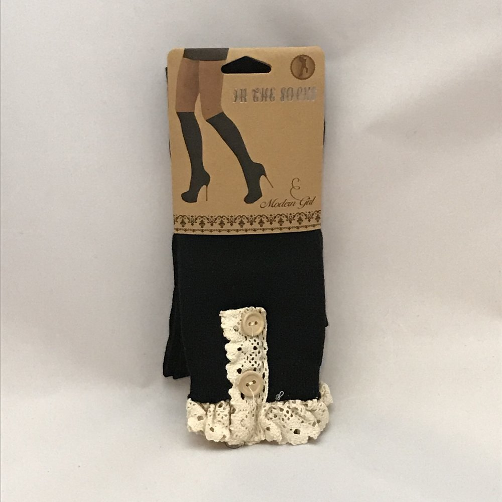 Black Boot Socks $20