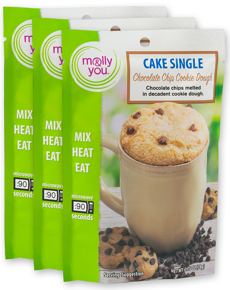 Chocolate Chip Cookie Dough Cake Single $3