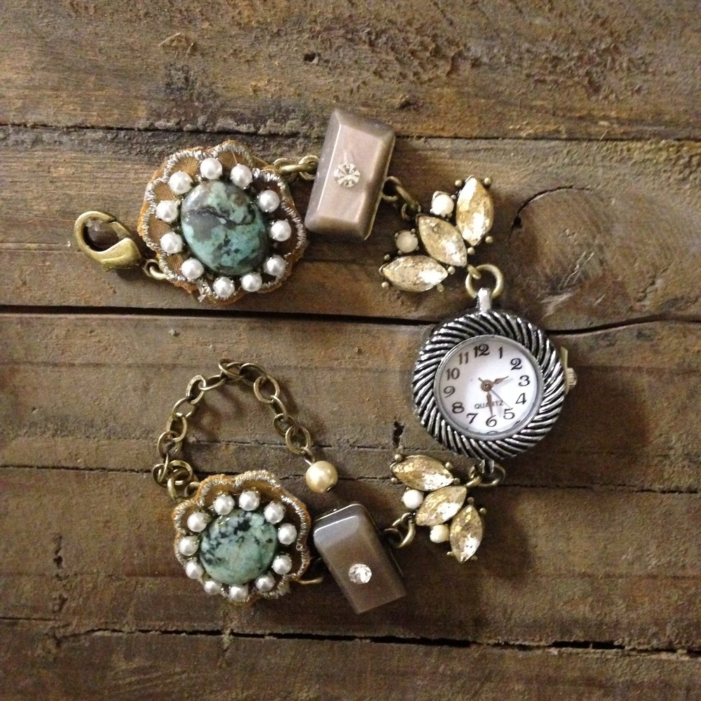 Quartz Drop Bracelet $110