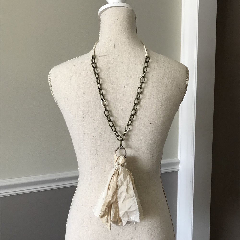 Ivory Tassel Necklace $40