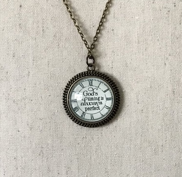 God's Timing Is Always Perfect Necklace