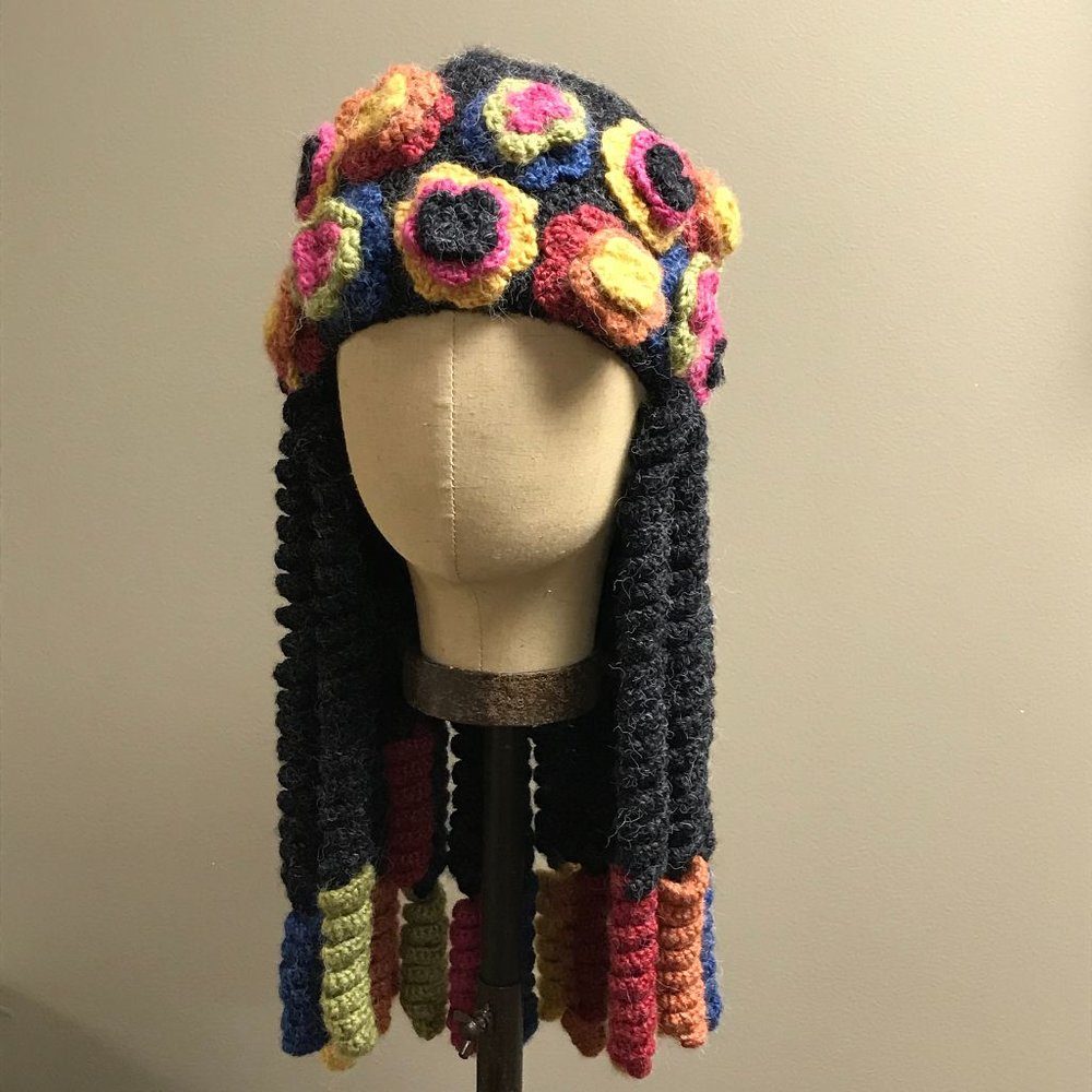 Floral Braided Hat $36