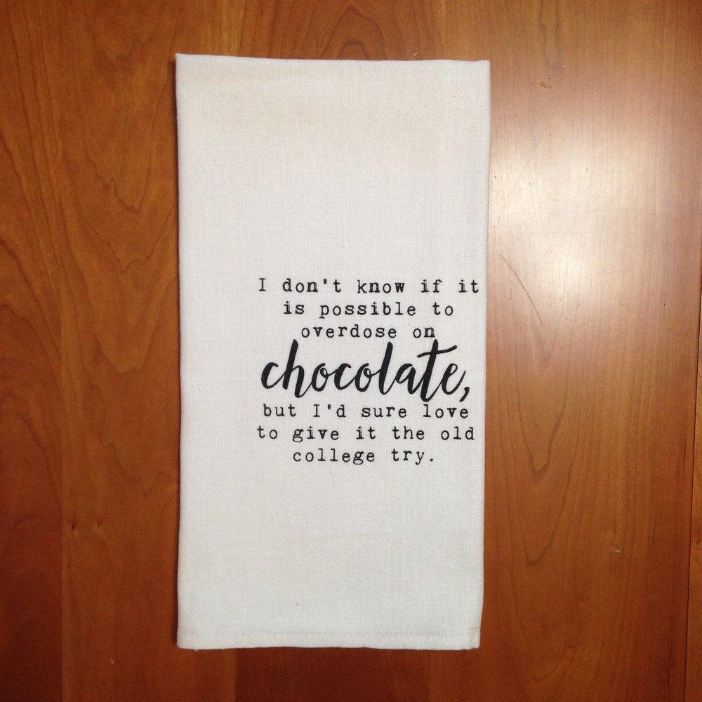 Chocolate Overdose Dish Towel $8