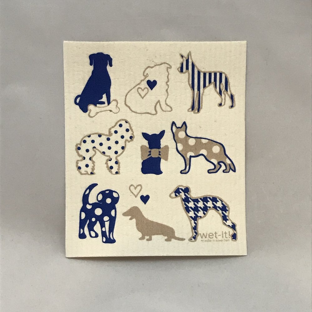 Dog Lover Blue Swedish Cloth $6