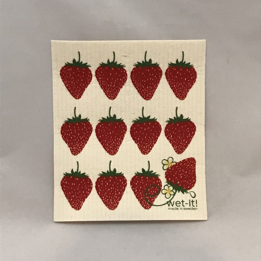 Strawberry Swedish Cloth $6