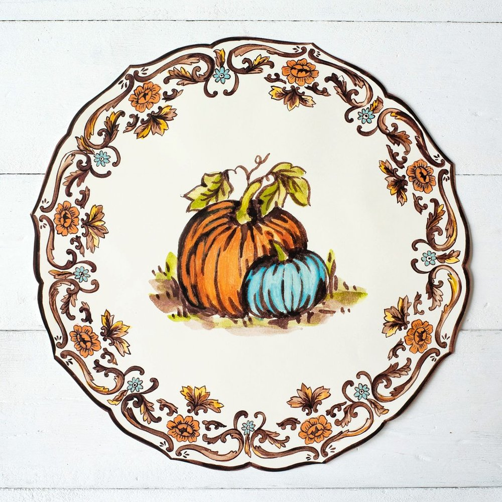 Die Cut Thanksgiving China Placemat $29