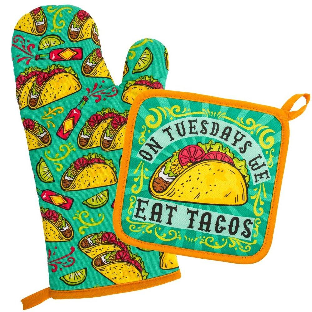 Tacos Oven Mitt and Pot Holder $15