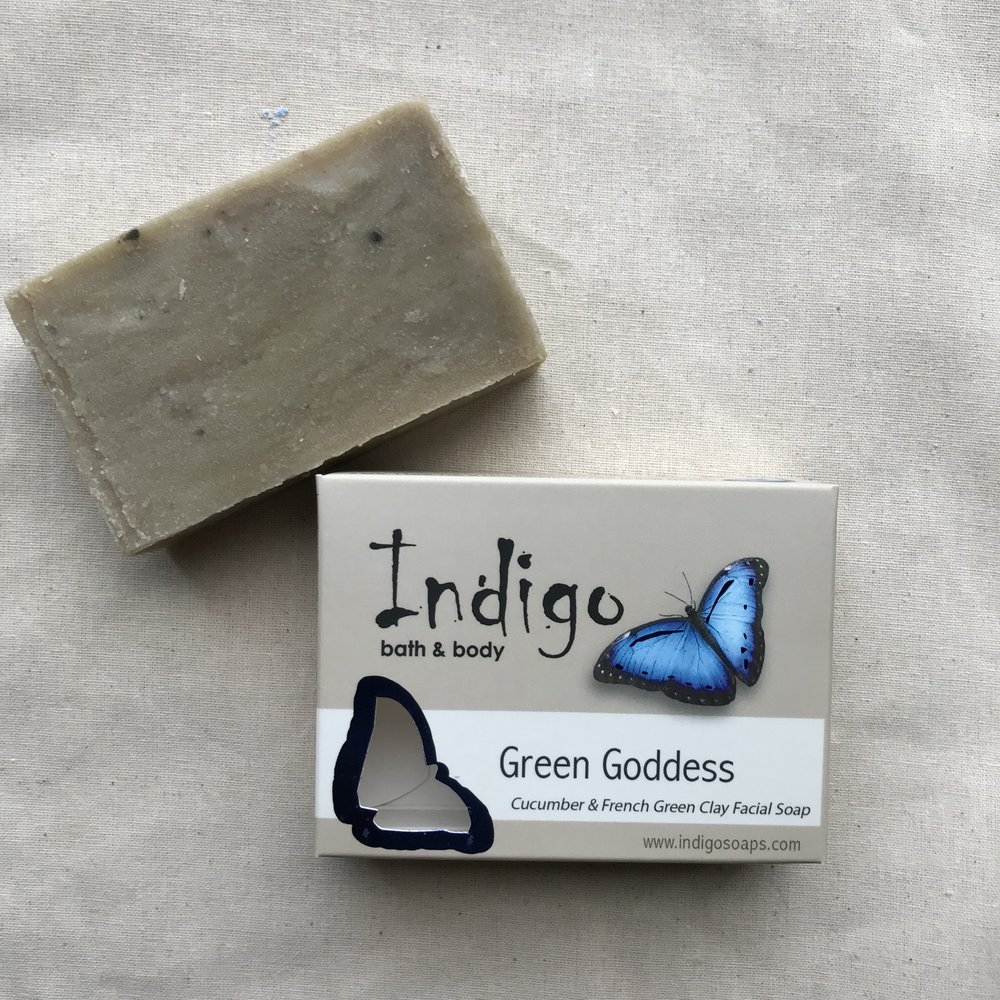 Green Goddess Cucumber & French Green Clay Facial Soap - $8