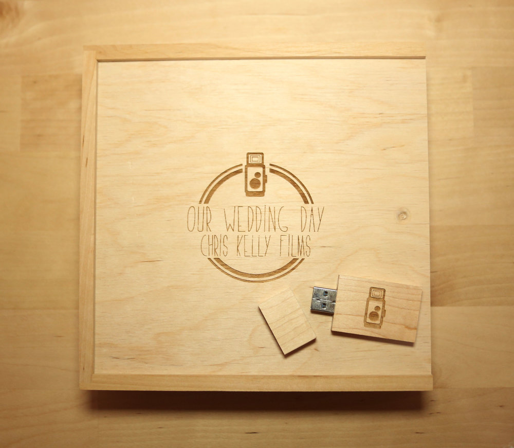 Our USB & Wooden Presentation Case for Your Wedding Film