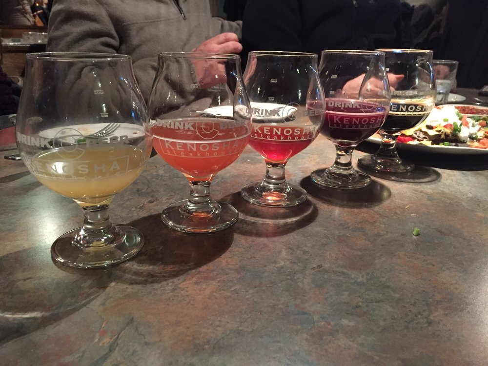 "A ""rare"" beer rainbow sighting at Kenosha Steakhouse Photo: Neill Pieper"