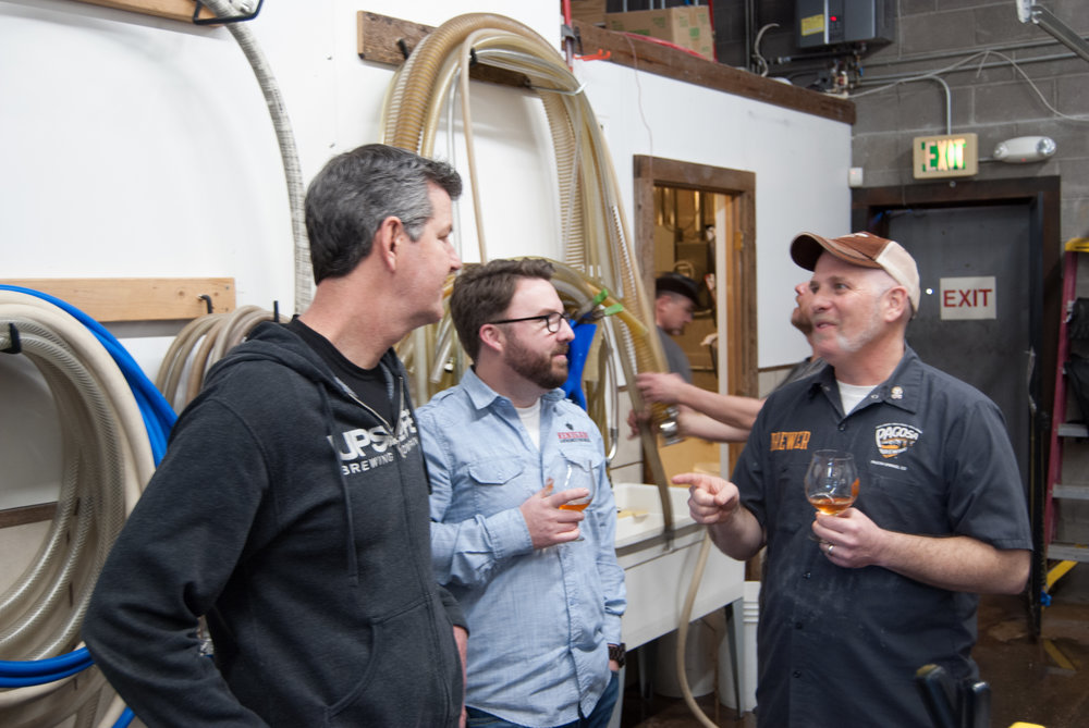 Colorado Brewers Guild board members meet for their collab brew day. Photo: Jason Van Houten