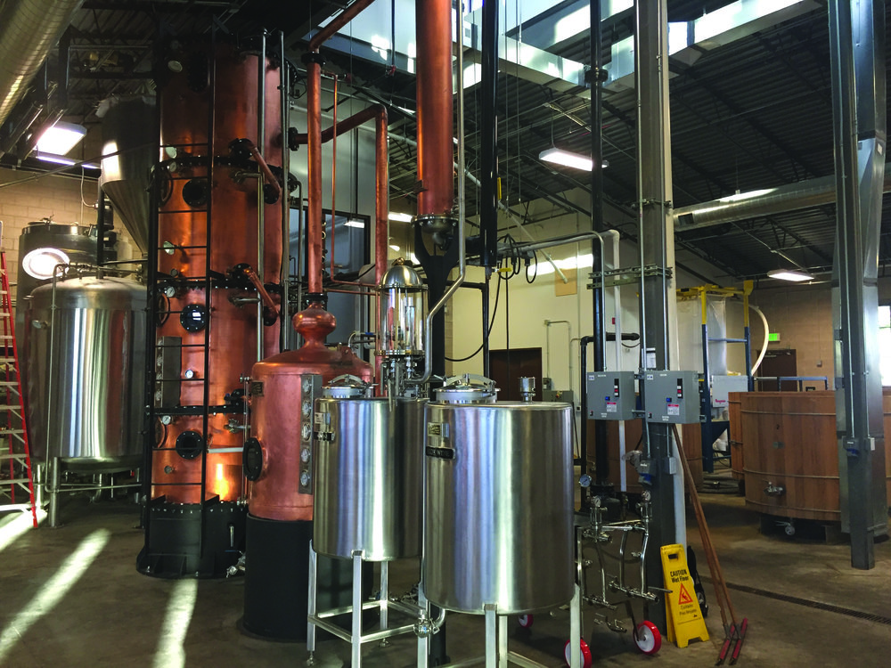 Leopold's custom distilling equipment get's it done and is captivating to see in action.