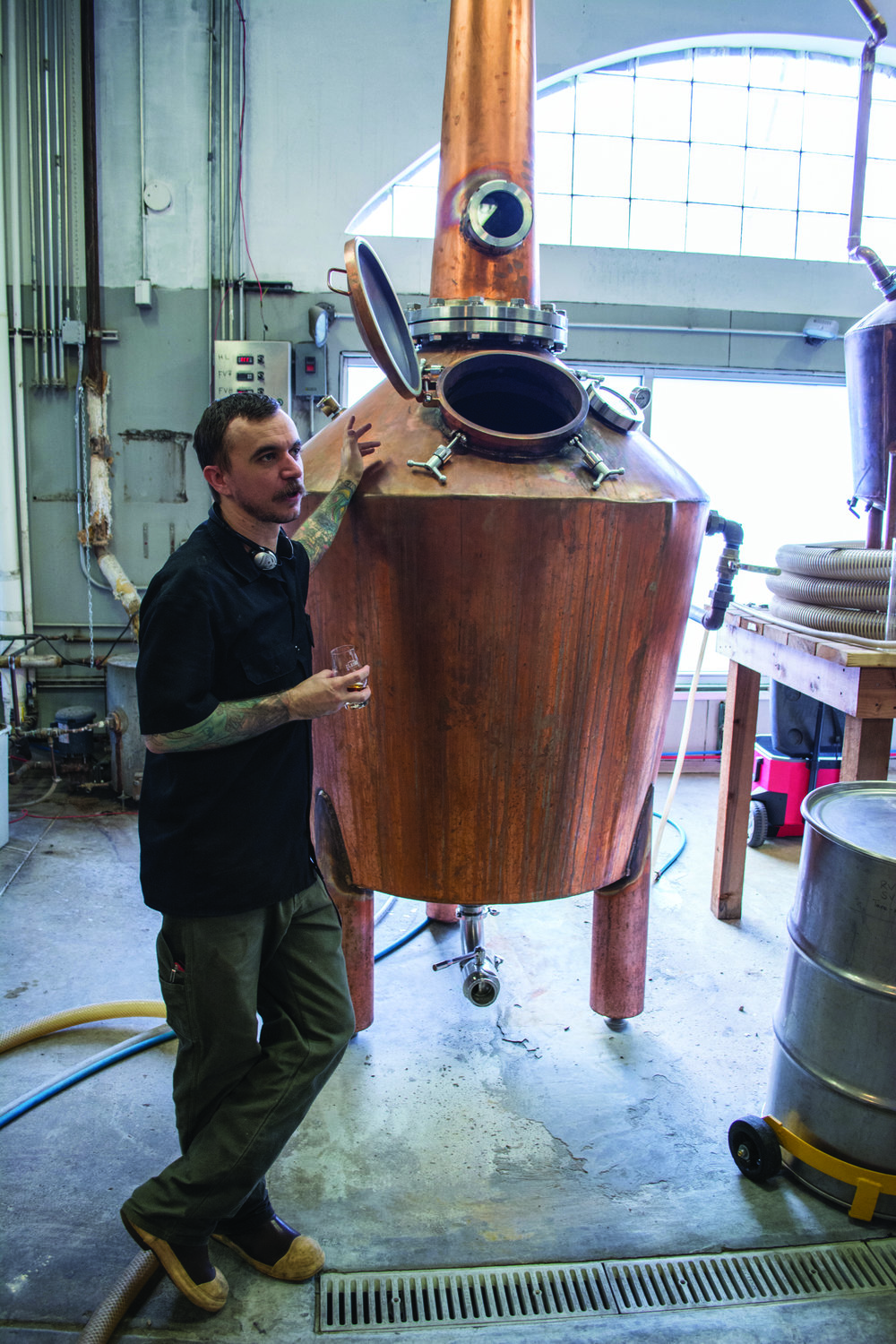 Eric Jett, head distiller at Distillery 291, gives a tour of the Colorado Springs facility.  Photo: Neill Pieper