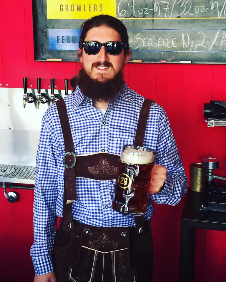 Station 26 founder Justin Baccary in his Oktoberfest garb at last year's celebration. Photo courtesy of Station 26