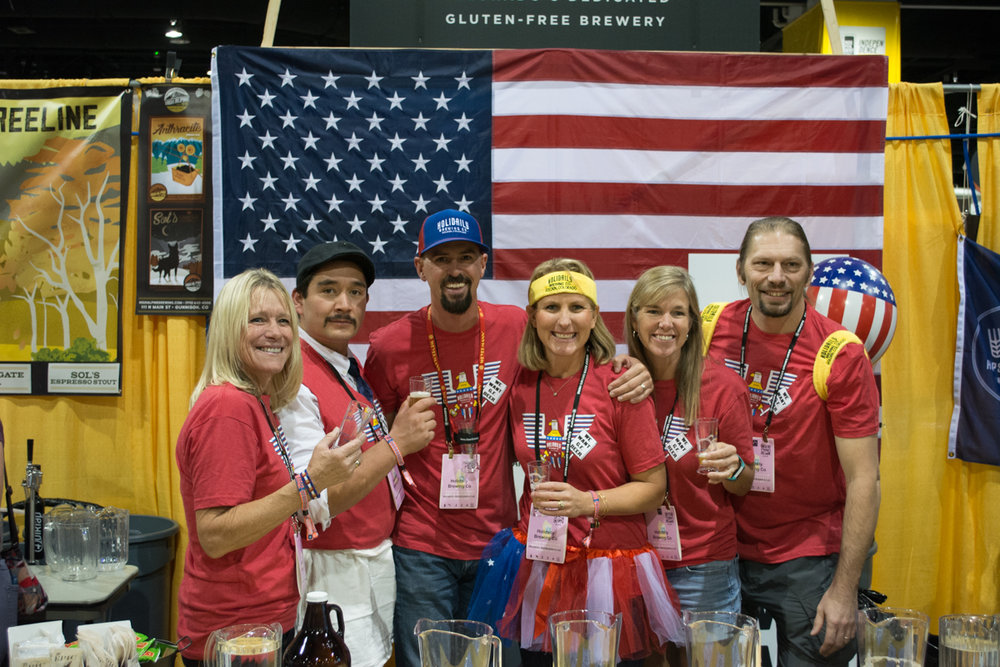 The Holidaily brew crew was decked out for all three days of GABF. Yellow headbands sporting their Holidaily logo were a huge hit with festival attendees.
