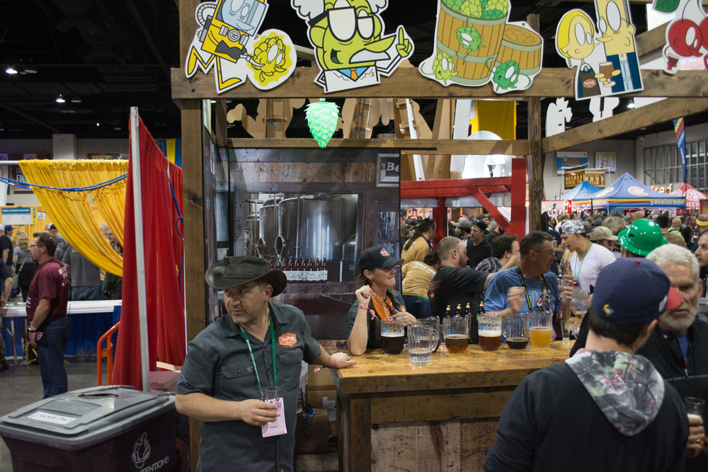 Tim Myers from Strange Craft Brewing scouts the crowd. Tickets for this years festival sold out in approximately 4 hours.