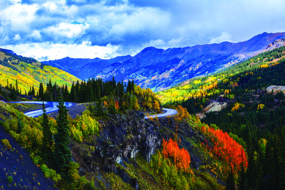 Red Mountain Pass greets motorists with astounding beauty. Photo - Neill Pieper