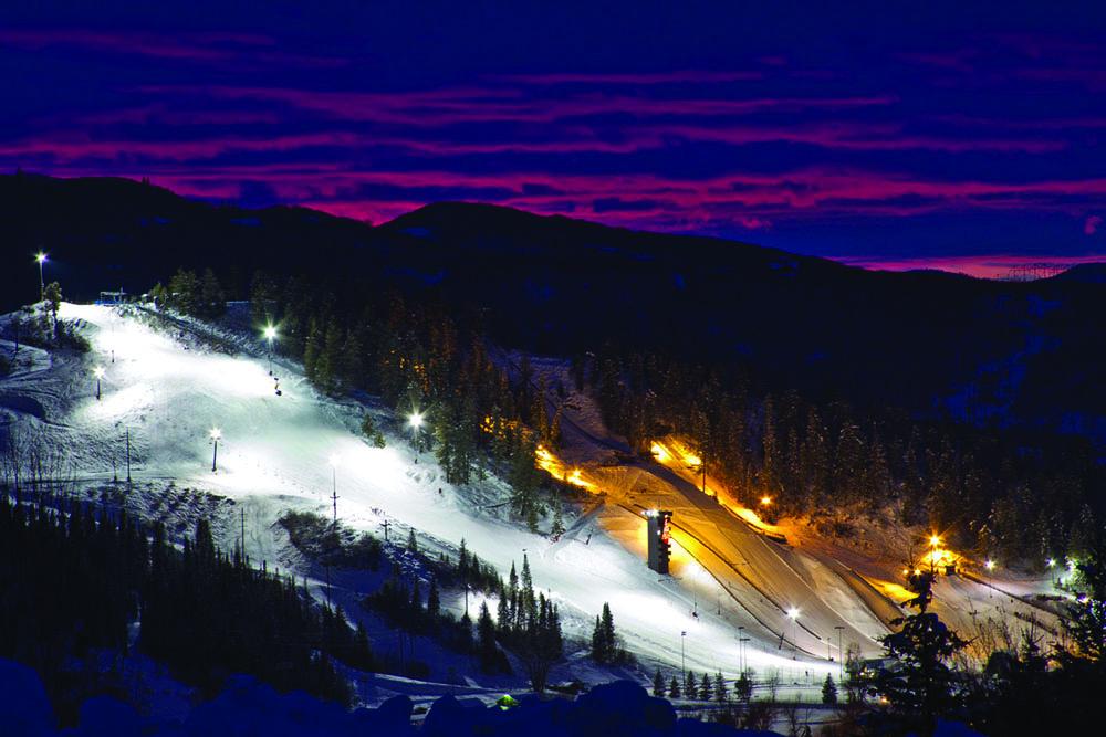 night skiing on Howelsen Hill.