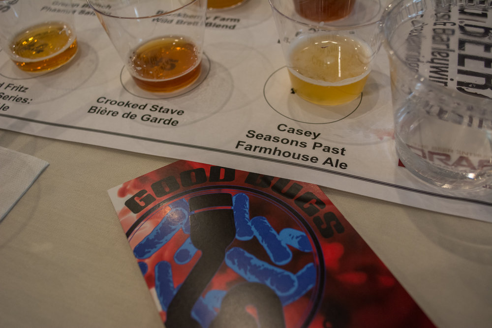 The Good Bugs seminar explored the intersection between fermentation and culinary flavors found in beers from breweries such as Casey Brewing and Blending and Crooked Stave.