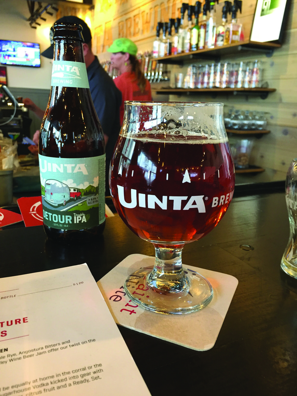 A Detour IPA is poured at Uinta Brewing Co. in Salt Lake City. Photo Neill Pieper