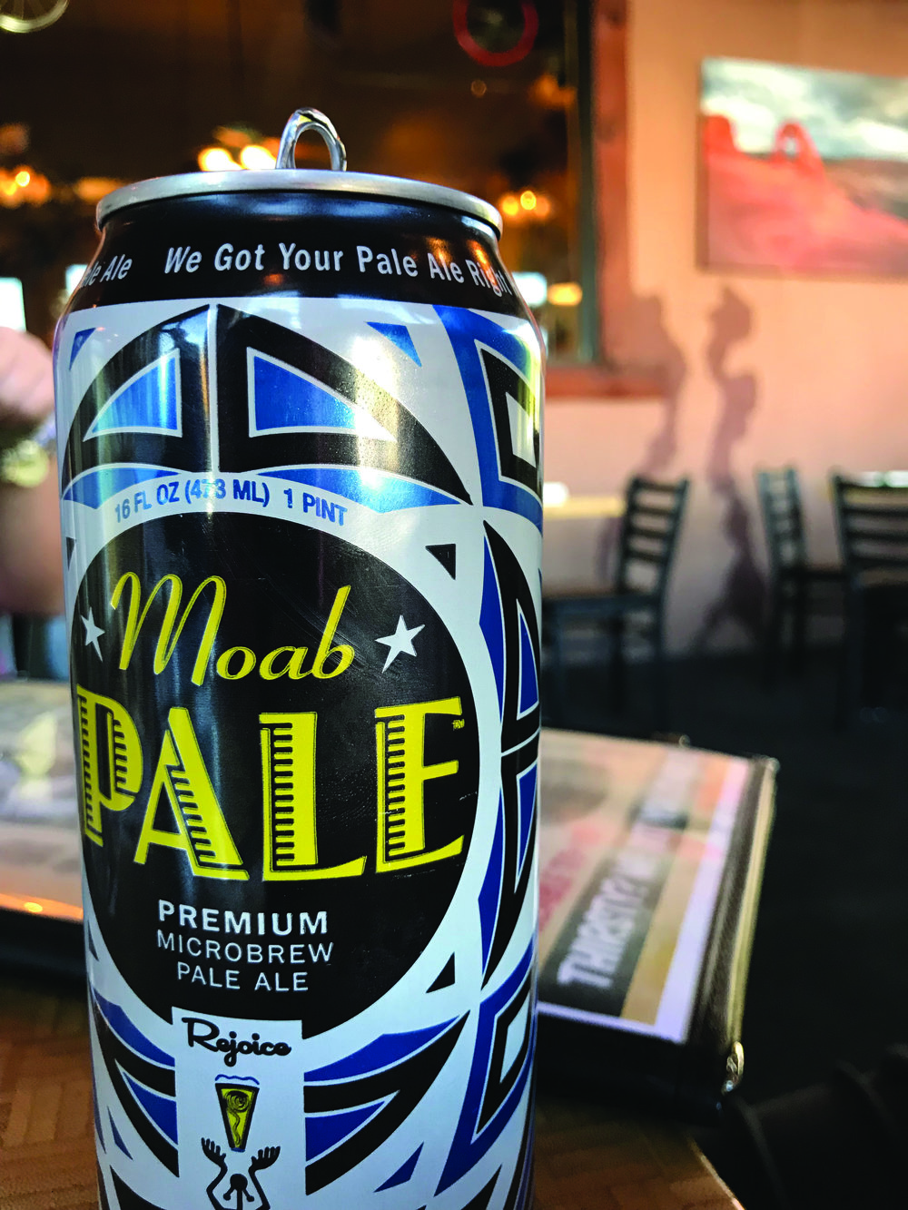 Moab Brewery's pale ale goes down easy after a day of hiking. Photo Neill Pieper