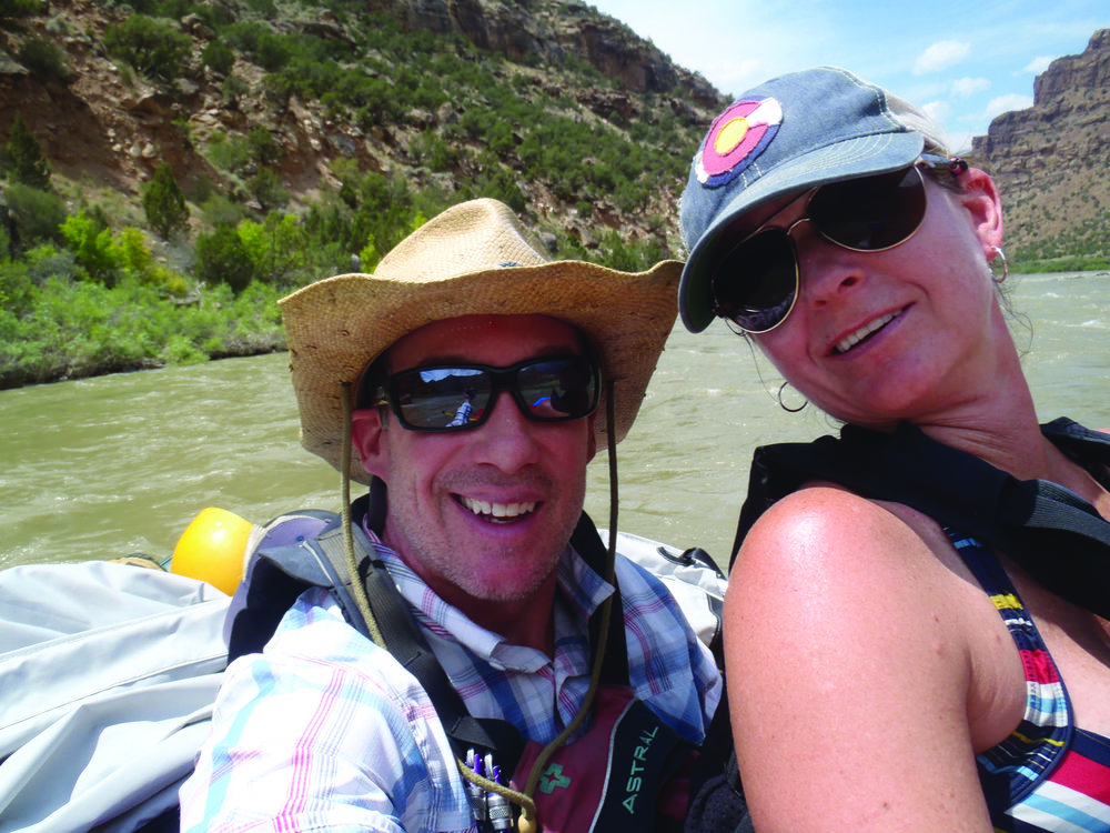 Garry Keller, pictured below with his wife Becky, is an experienced summer rafting guide in Fort Collins. Photo: Garry Keller