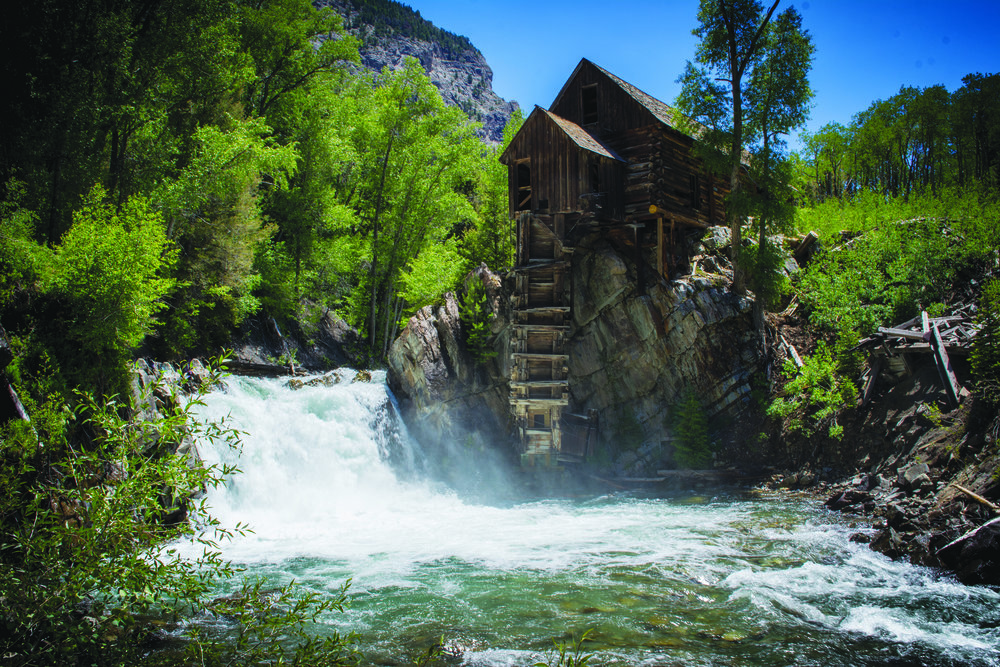 The Crystal Mill provides an iconic backdrop to visitors. Photo Neill Pieper