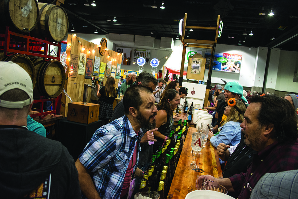 Avery Brewing Co.'s booth was hopping during last year's festival. Photo: Neill Pieper