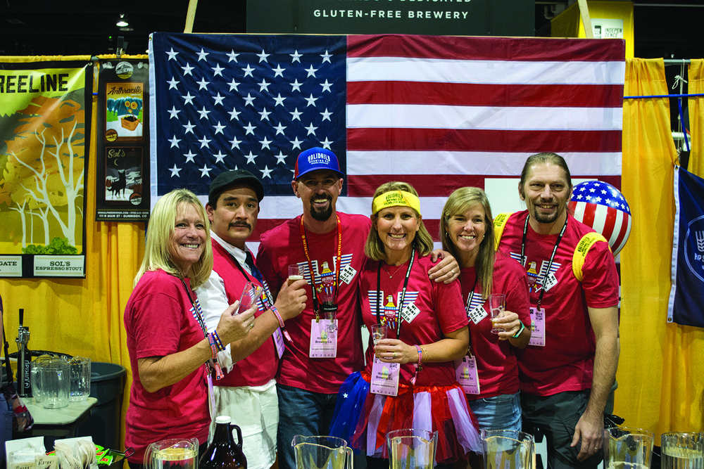 The Holidaily Brewing Co. crew took time out for a photo during the 2017 GABF. Photo: Neill Pieper