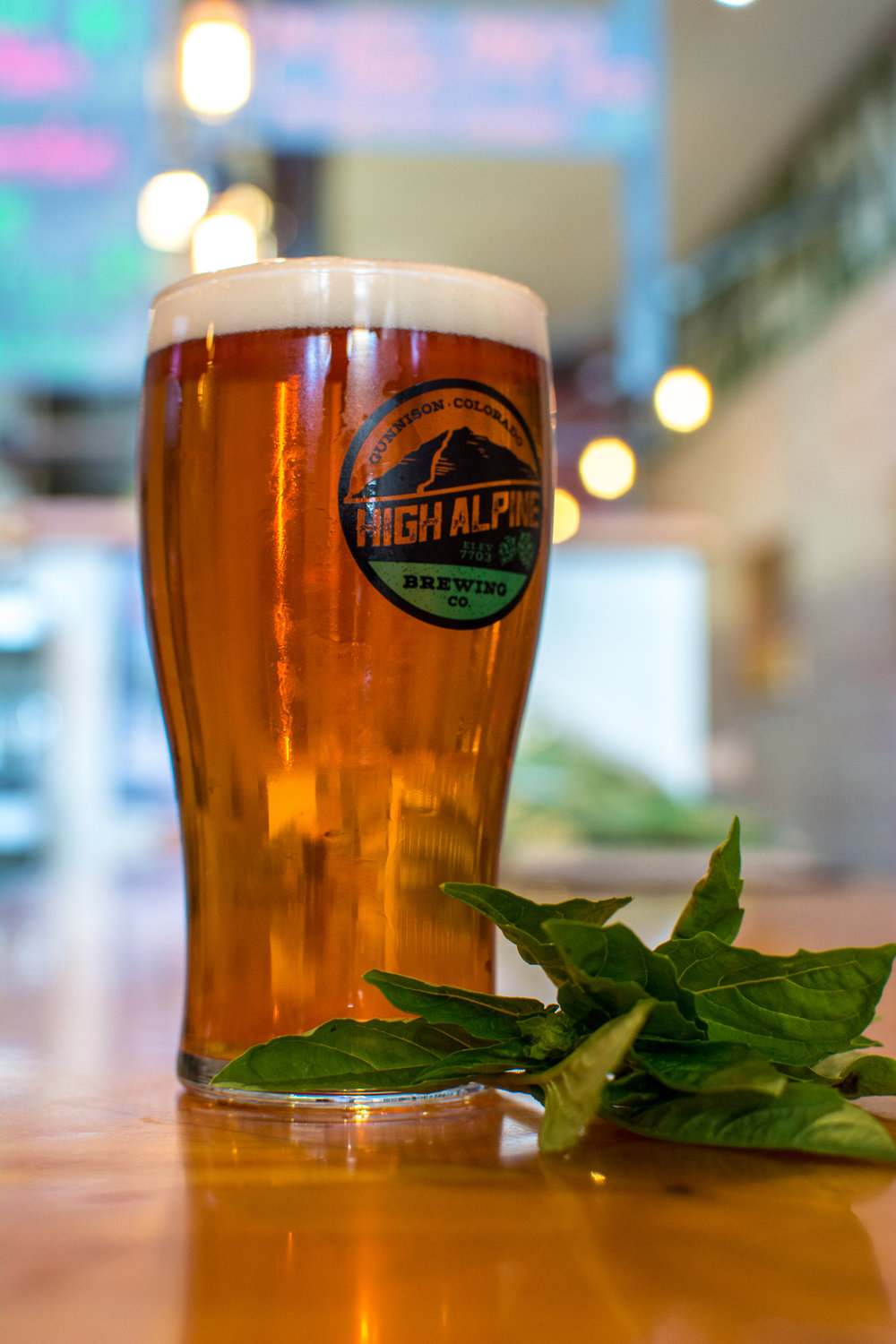 Italian Mountain Basil Ale Style: Basil-infused Blonde Ale Brewery: High Alpine Brewing Co. Location: Gunnison ABV: 5.5 IBU: 21   Photo: Neill Pieper