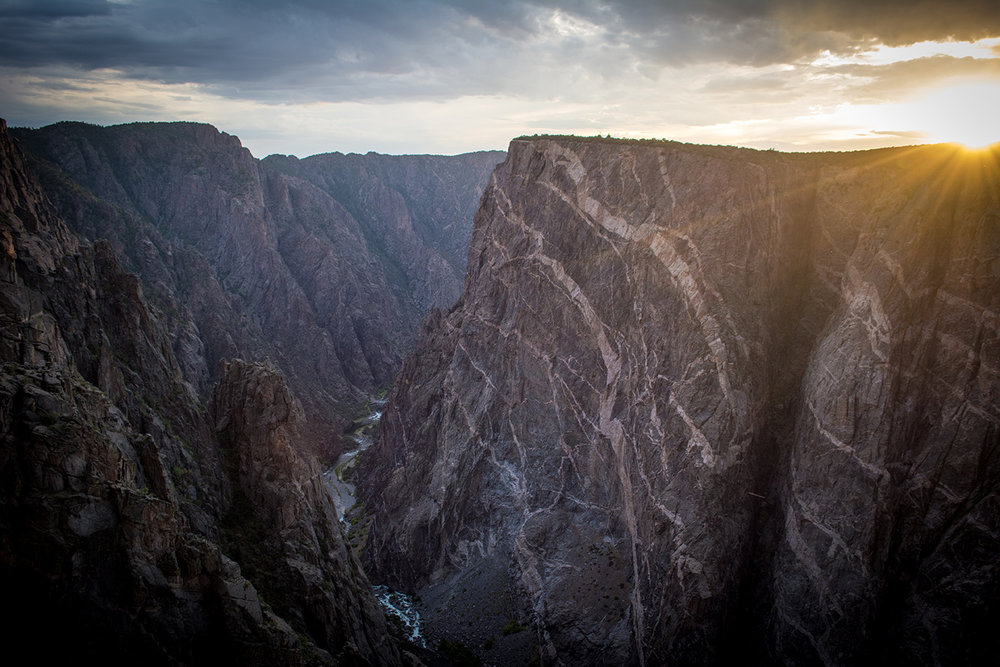 South Rim Black Canyon of the Gunnison.  Photo Neill Pieper