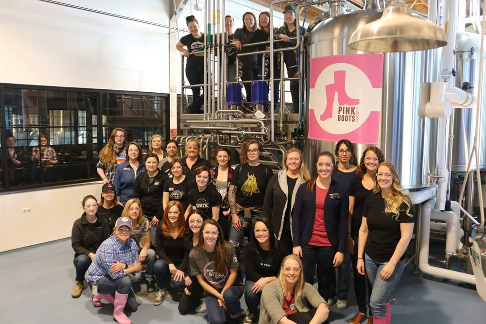 Last year's PBS Denver Chapter Collaboration Brew crew. Photo: courtesy Pink Boots Society Facebook page.