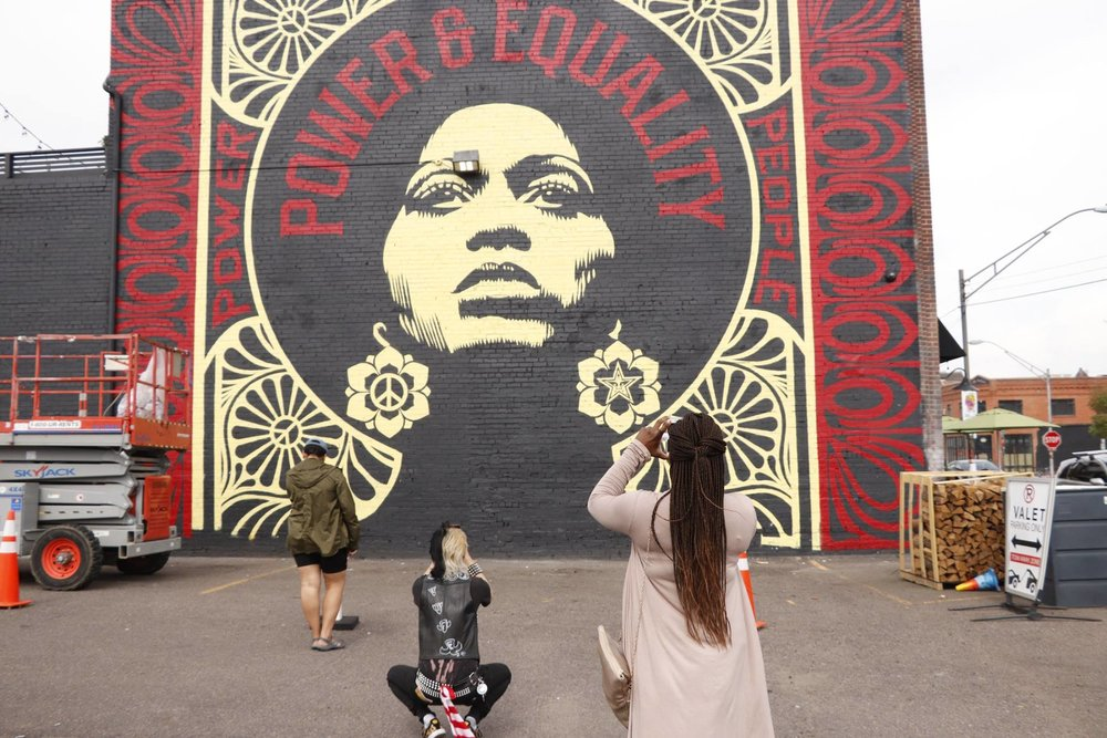 RiNo Mural Power and Equality Photo by Lisa McIntyre