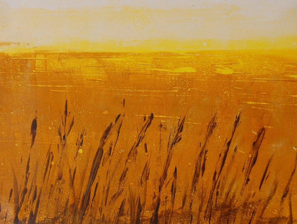 'In Praise of Prairies III', 16x20 monotype painting
