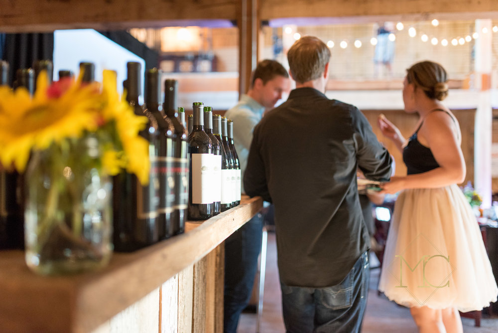 image from multiple sclerosis nashville event of guests in front of wine bar
