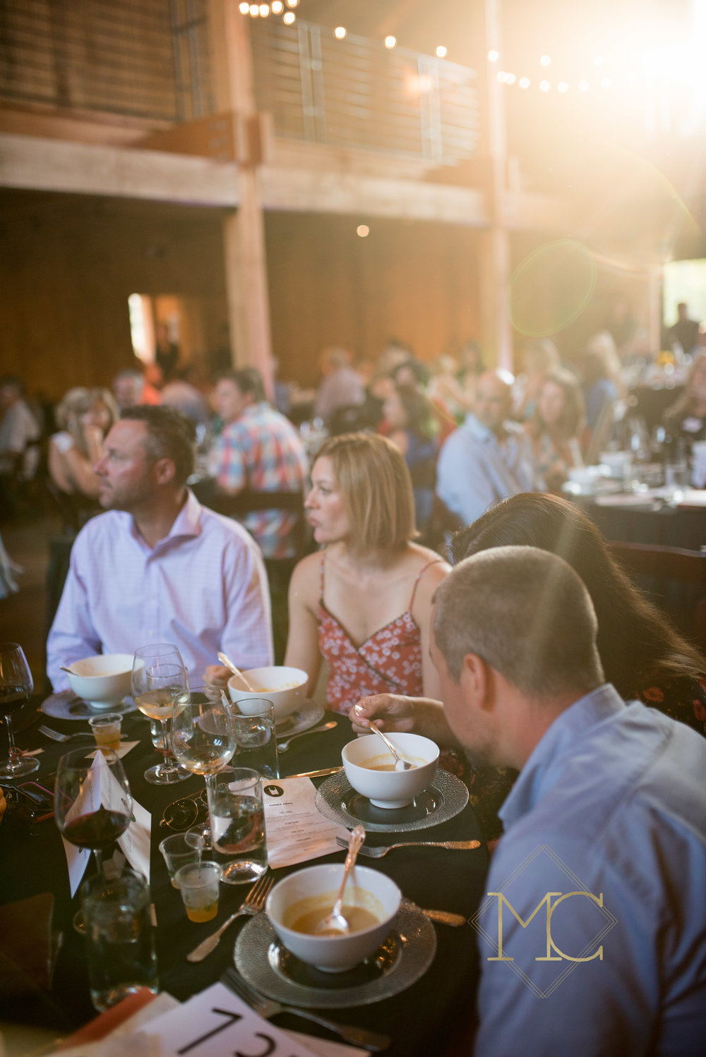 image from multiple sclerosis nashville event of guests seated at table
