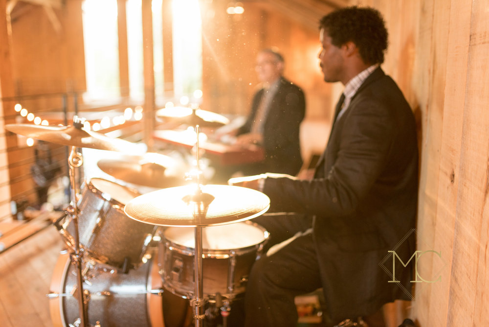 image from multiple sclerosis event of nashville drummer musician vincent heckard playing drumlin the band