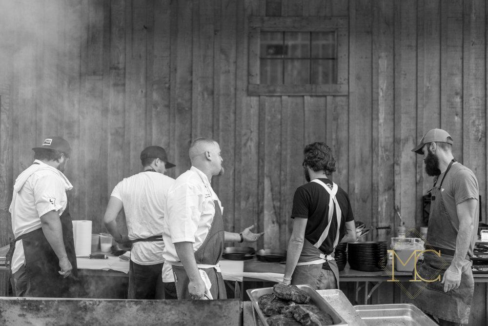 nashville chefs hal holden-bathe of lockeland table, travis mcshane of adele's nashville, eric zizka of oak steakhouse nashville and trey choice of the The Farm House nashville