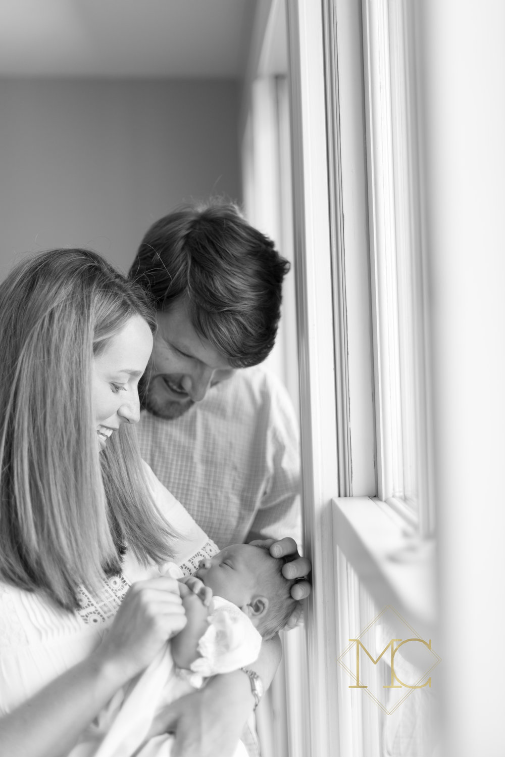 image from nashville newborn lifestyle photo session with mom, dad and baby