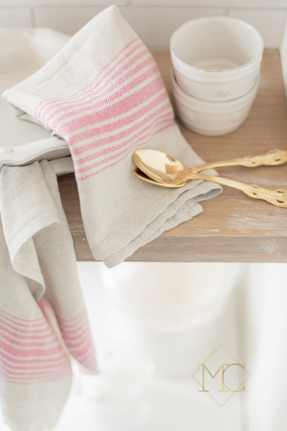 image from commercial product nashville shoot of turkish kitchen interior towel