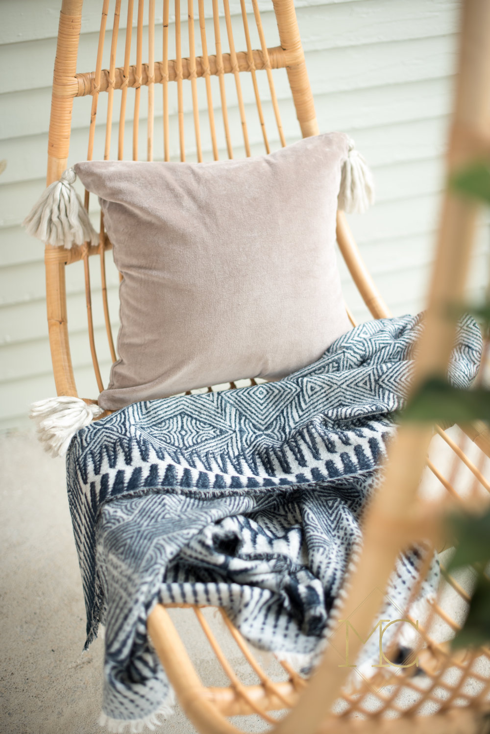 image from commercial product nashville shoot of cashmere turkish blanket and pillow