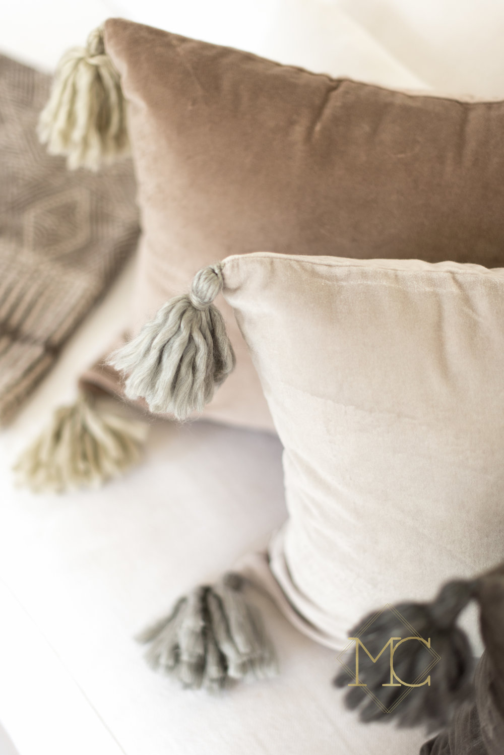 image from commercial product nashville shoot of cashmere turkish pillow